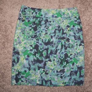 Halogen Pencil Skirt Size 8 Blue and Green